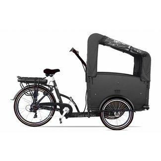 Troy elektrische Bakfiets 7V driewieler 481Wh Zwart