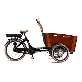 Vogue Carry 3 elektrische Bakfiets 7V (481Wh) Zwart - Bruin