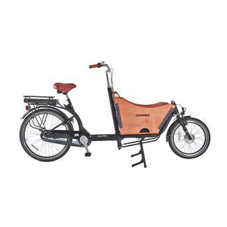 Altec Avior elektrische bakfiets tweewieler Mat Zwart