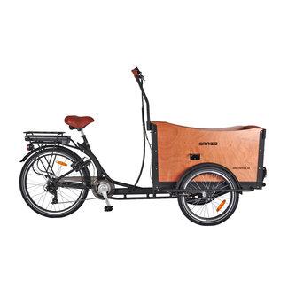 Altec Regulus elektrische bakfiets driewieler Mat Zwart
