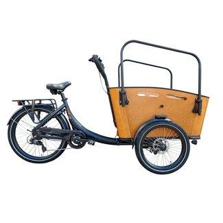 Vogue Superior 3 elektrische bakfiets 7V (481Wh) Zwart - Bruin