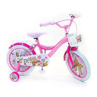 LOL Surprise meisjesfiets 16 inch roze 2 handremmen