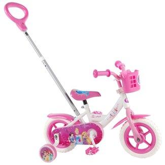 Disney Princess meisjesfiets 10 inch roze/wit