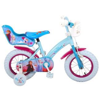 Disney Frozen 2 meisjesfiets 12 inch blauw/paars