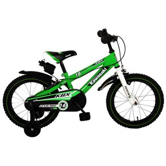 Kawasaki jongensfiets 16 inch groen 2 handremmen