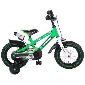 Kawasaki jongensfiets 12 inch groen/wit