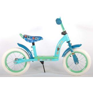Disney Vaiana Loopfiets meisjesfiets 12 inch mintblauw/groen