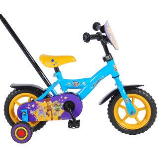 Toy Story Disney 4 jongensfiets 10 inch blauw/geel