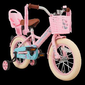 Supersuper Little Miss meisjesfiets 14 inch roze