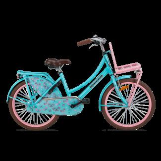 Popal Daily Dutch Basic meisjesfiets 22 inch turquoise roze