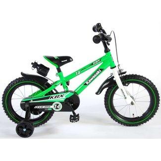 Kawasaki jongensfiets 14 inch groen