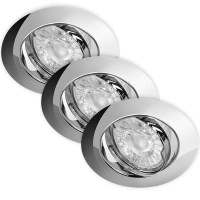 LED Inbouwspots Dimbaar Murillo 3 Pack 5,5W - Chrome
