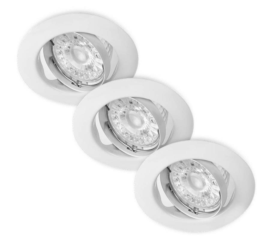 LED Inbouwspots Murillo 3 Pack 3,3W - Wit