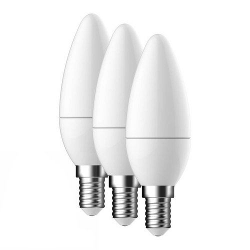 Energetic E14 LED Lamp Energetic Kaars 3 Pack - 3.6W - vervangt 25W