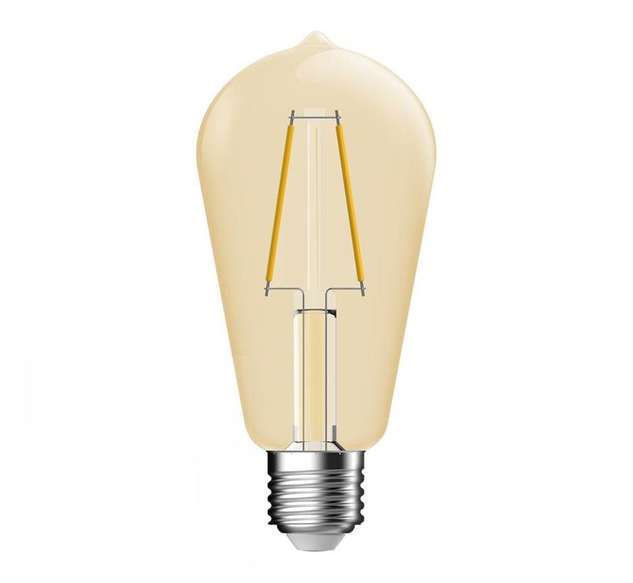 E27 LED Lamp Gold Clear Bulb Energetic - 4.4W - vervangt 35W