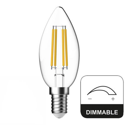 E14 LED Lamp Dimbaar Kaars Energetic - 4.8W - vervangt 40W
