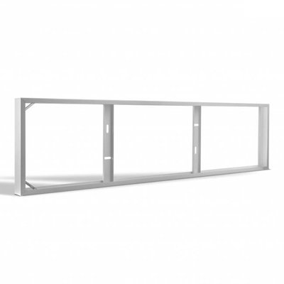 LED Paneel Opbouw - 120x30 - Staal  - Wit