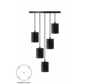 Calex Calex Giant Multi Cord Set - 5 x E40 - Zwart