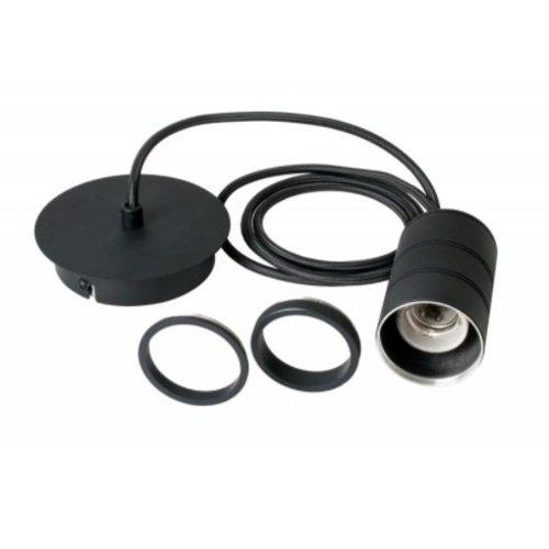 Calex Calex Cord Set E27 - 2 Meter - Zwart