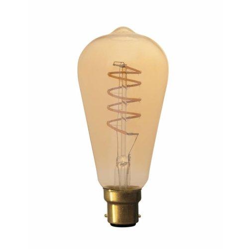 Calex Calex Rustic LED Lamp Flexible - B22 - 200 Lm - Goud