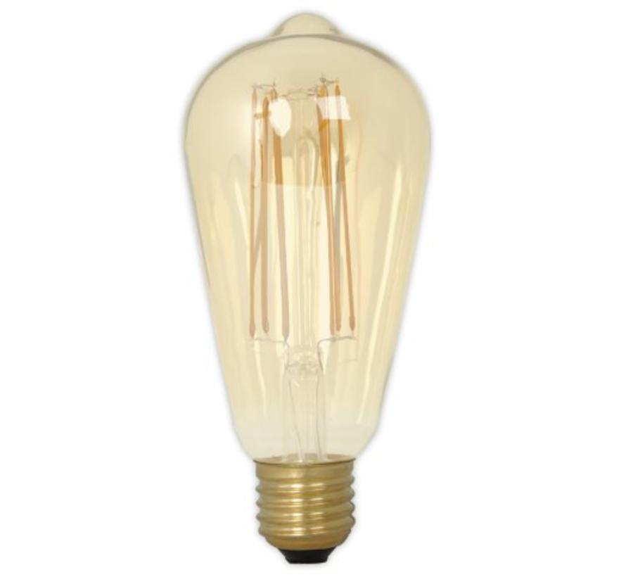 Calex Rustic LED Lamp Warm - E27 - 320 Lm - Goud / Clear