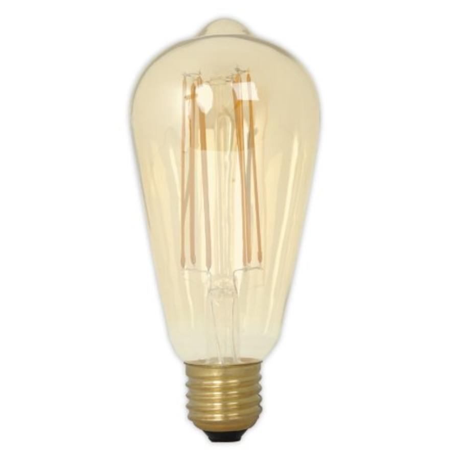Rustic LED Lamp Warm - E27 - 320 Lm - Goud / Clear