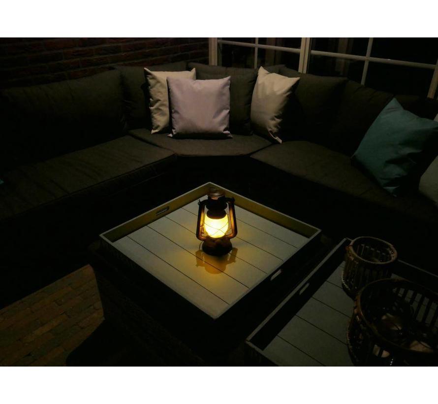 LED Lantaarn Buiten - met vlameffect