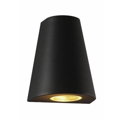 Lightexpert.nl Wandlamp buiten - Los Angeles - Tweezijdig - zwart
