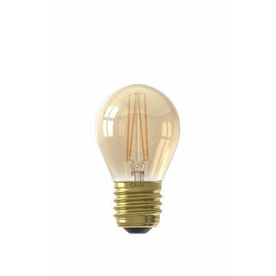 Calex Spherical LED Lamp Ø45 - E27 - 130 Lm - Goud Finish