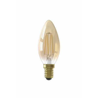 Calex candle LED Lamp Ø35 - E14 - 200 Lm - Goud Finish