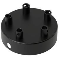 Lightexpert Calex Plafondkap Zwart – 5 Snoeren