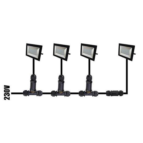Lightexpert LED Breedstraler met Sensor 10W - 800 Lumen - 4000K