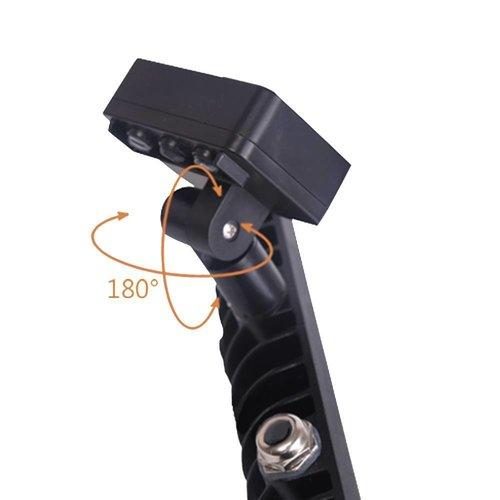 Lightexpert.nl LED Breedstraler met Sensor 10W - 900 Lumen - 6400K