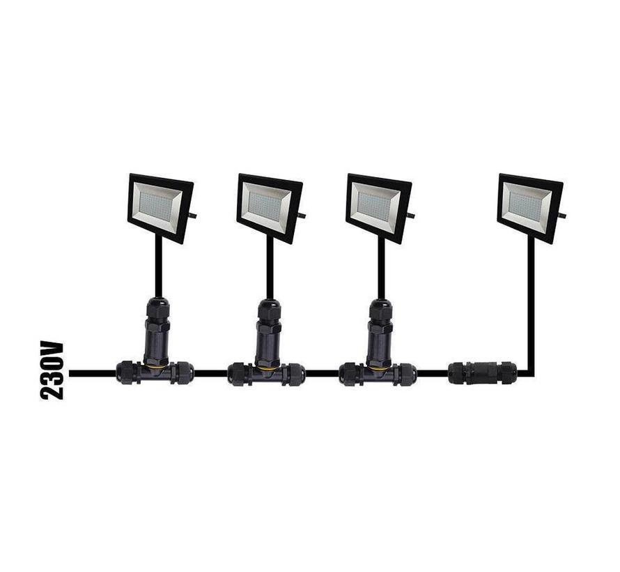 LED Breedstraler met Sensor 100W - 10.000 Lumen - 6400K