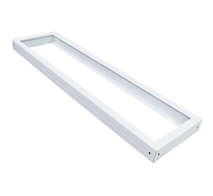 LED Paneel Opbouw 120x30 - Aluminium - Wit