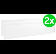 Lightexpert.nl LED Paneel 120x30 - 2 Pack - 40W - 3000K - 3600 Lumen