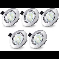 Energetic Energetic LED Inbouwspots RVS - 5W - Dimbaar & Kantelbaar