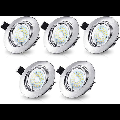 Lightexpert.nl LED Inbouwspots Murillo  5 Pack 4,7W - RVS look