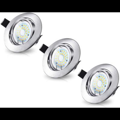 LED Inbouwspots Dimbaar Murillo 5W - 3 Pack - RVS look