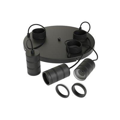 Calex Multi Cord Set - 3x E27 - Zwart