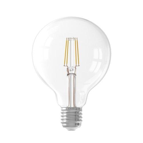 Calex Calex Globe LED Lamp Filament - E27 - 600 Lm - Zilver