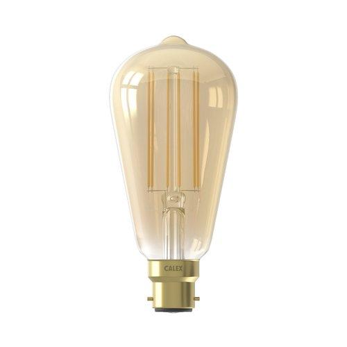 Calex Calex Rustic LED Lamp Warm - B22 - 320 Lm - Goud / Clear