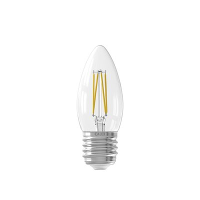 Calex candle LED Lamp Filament - E27 - 350 Lm - Zilver
