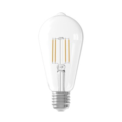 Calex Rustic LED Lamp Filament - E27 - 600 Lm - Zilver