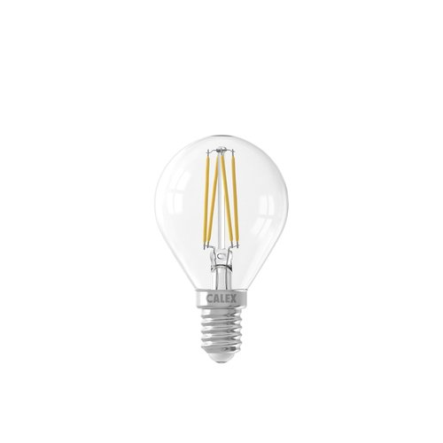 Calex Calex Spherical LED Lamp Filament - E14 - 470 Lm - Zilver