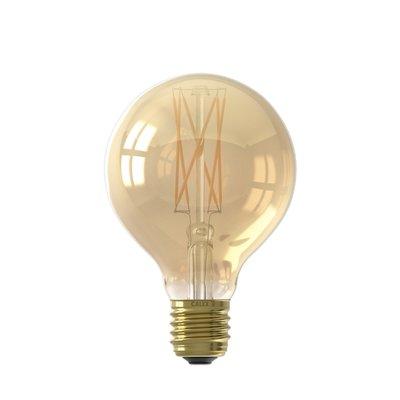 Calex Globe LED Lamp Warm Ø80 - E27 - 320 Lm - Goud / Clear