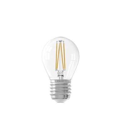 Calex Spherical LED Lamp Filament - E27 - 470 Lm - Zilver