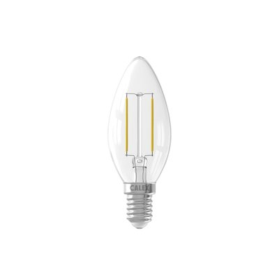 Calex candle LED Lamp Filament - E14 - 200 Lm - Zilver