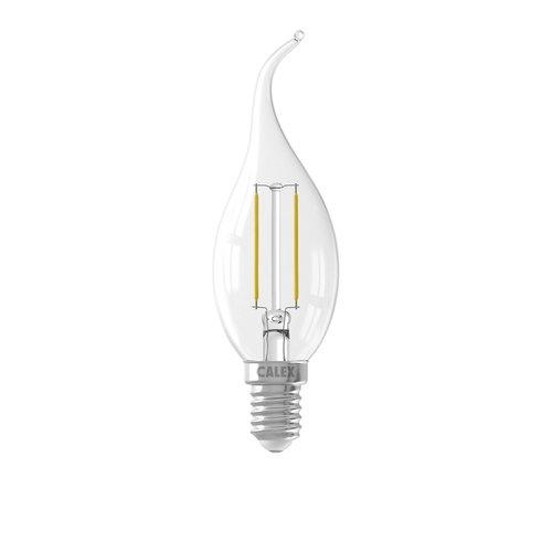 Calex Calex candle Tip LED Lamp Filament - E14 - 200 Lm - Zilver