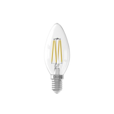 Calex candle LED Lamp Filament - E14 - 350 Lm - Zilver